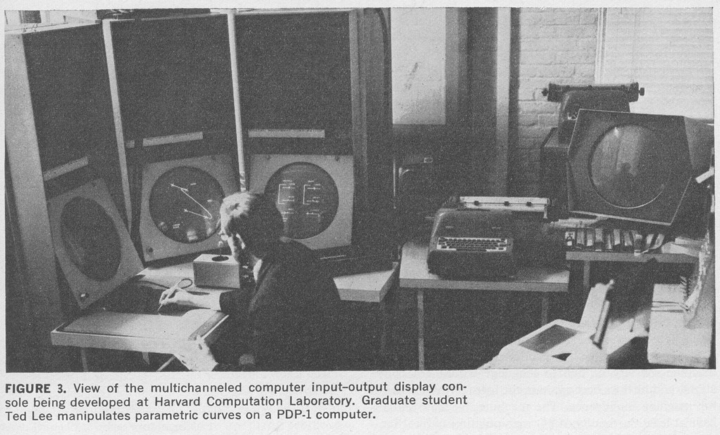 PDP1_screens_light_pen_Harvard_computation_laboratory_IEEE_spectrum_april_1968.jpg